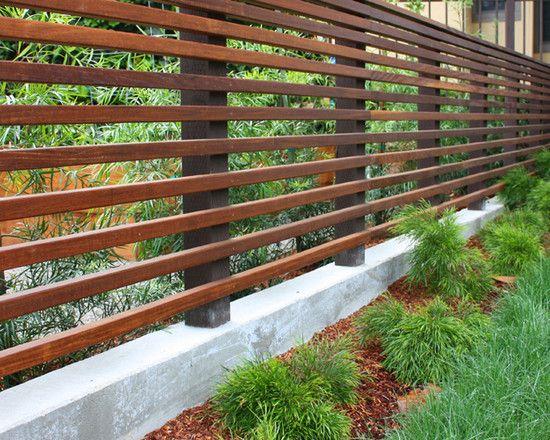 Gartengestaltung Beispiele Holzzaun