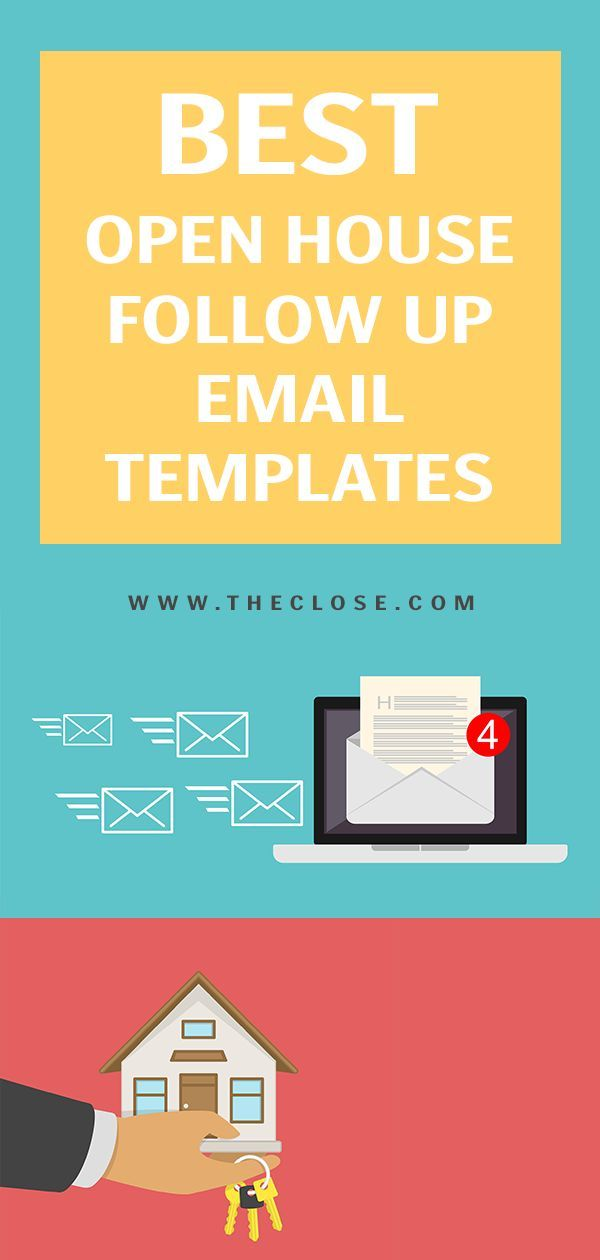 Best Open House Follow up Email Templates of 2019 #realestatetips