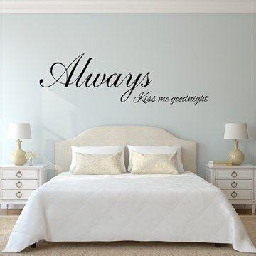 Always kiss me - Wall stick Alwaways kiss me goodnight