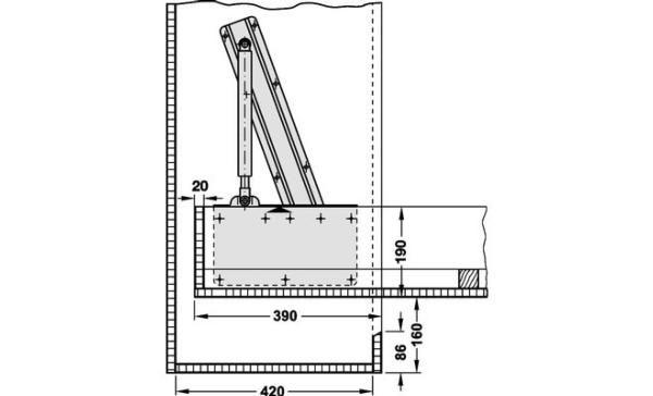 Herraje para cama abatible vertical en 2019 mecanismos - Mecanismo para camas abatibles ...