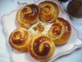 Operación Pastelito:: Caracolas de crema pastelera y pasas (thermomix y tradicional)