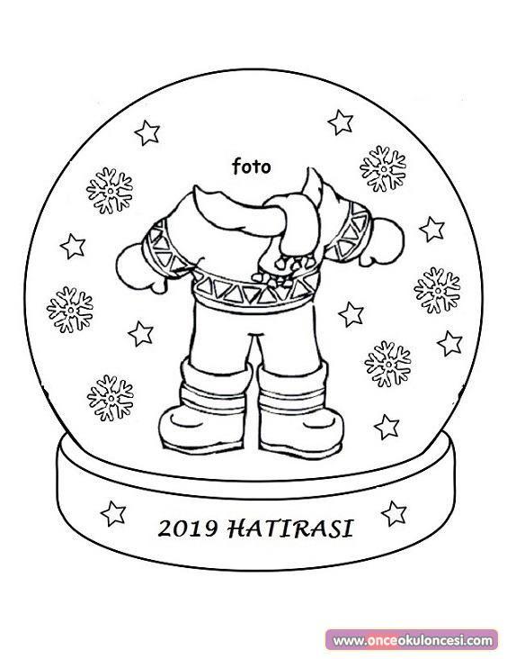 Kar Küresi Boyama Sayfası Winter No Xmas Winter Knutselen