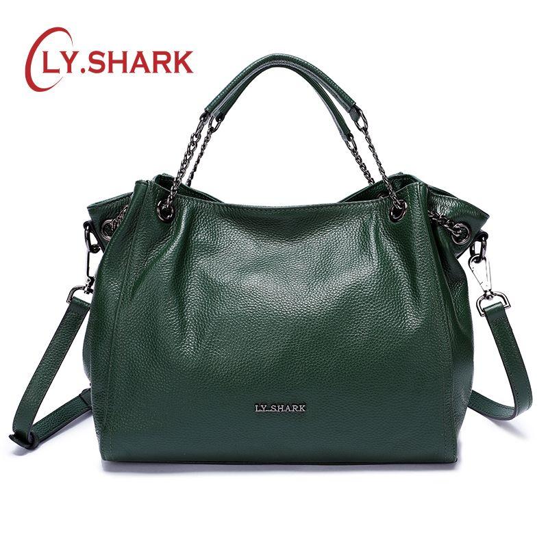 c58a1b27c SHARK Bags For Women 2018 Ladies Genuine Leather Handbag Luxury Handbag  Women Shoulder Bag Female Crossbody Bag For Women