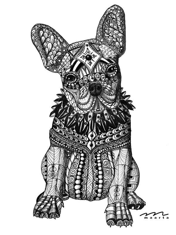 French Bulldog Art I Am Impressed Animales Dibujos