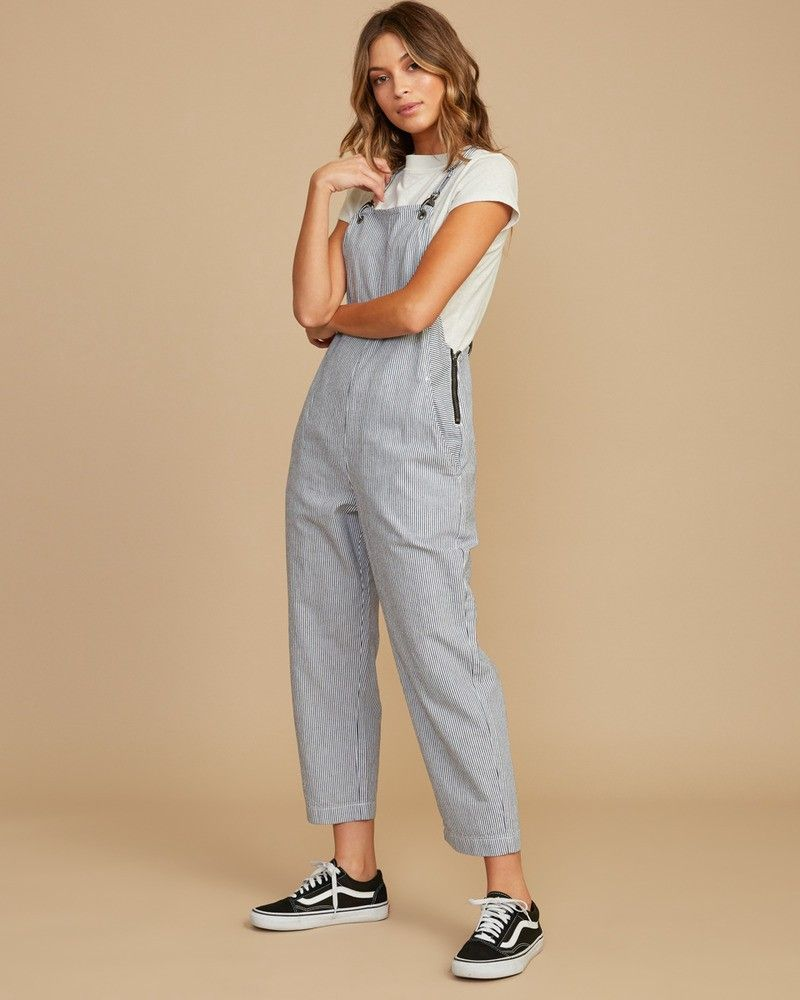 enjoy clearance price luxuriant in design genuine Otto Striped Overalls by RVCA | Products in 2019 | Jumpsuit ...