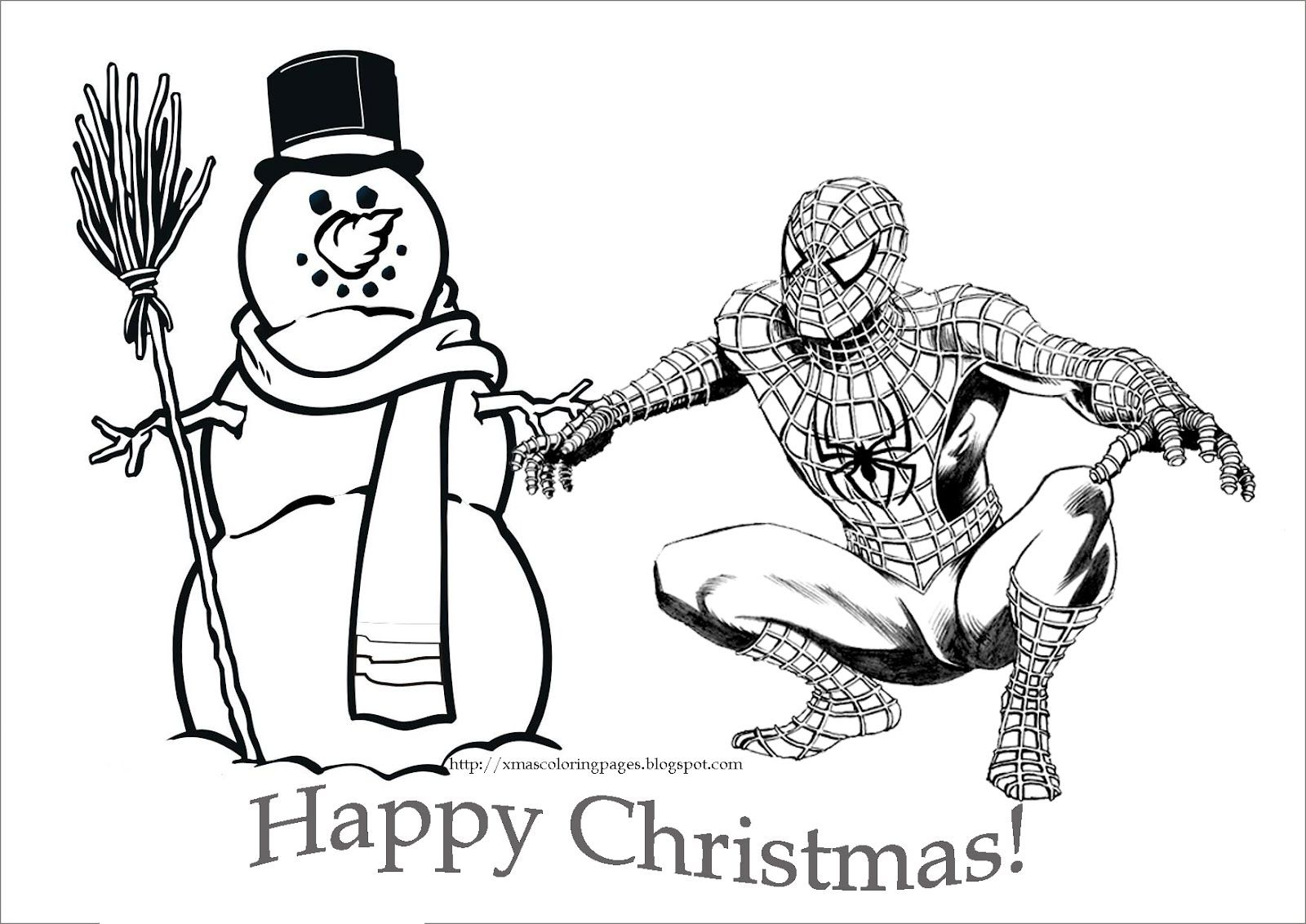 SPIDERMAN CHRISTMAS COLORING PAGE  Spiderman coloring, Christmas