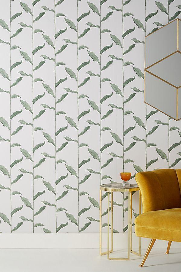 Stalks Wallpaper by Mitchell Black in Green, Wall Decor at