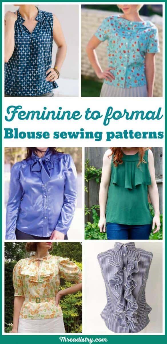 Feminine to formal: Fabulous Blouse Sewing Patterns | Shirts ...