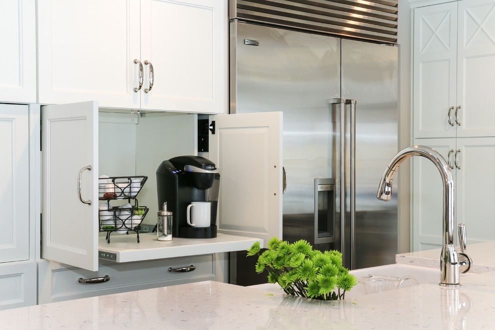 Cuisinart keurig coffee maker with transitional kitchen