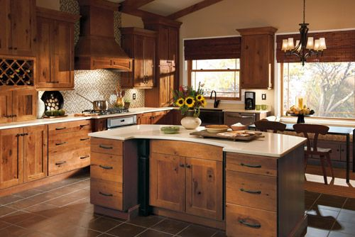 Rustic Hickory Kitchen Cabinet  Decor Ideas  Pinterest  Rustic Fascinating How To Design Kitchen Cabinets Decorating Design