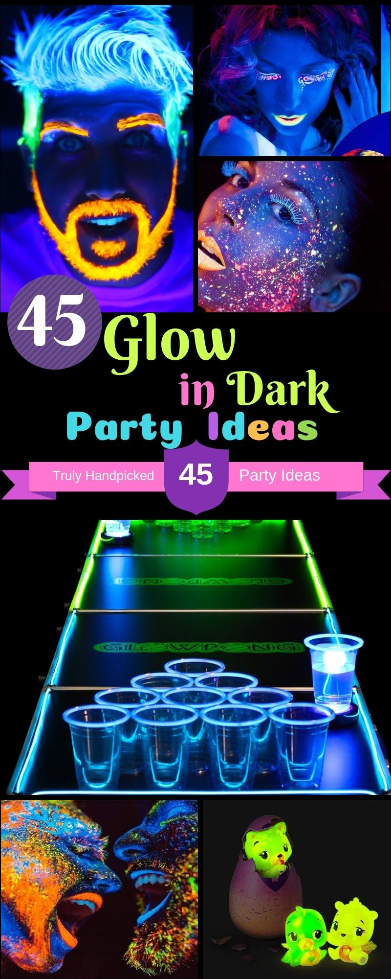 Glow Party Lunch Plates Neon Birthday Party Supplies