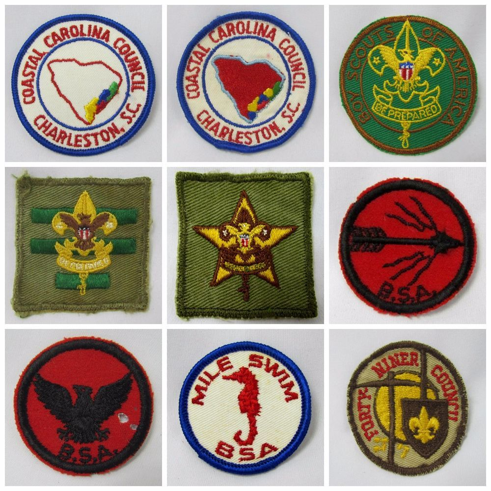 Workbooks eagle scout workbook download : Vtg 1940s - 1960s Boy Scout Badges & Square Patches, Patrol ...