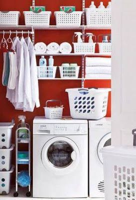 Crea lindo organizar tu centro de lavado facilmente con for Cesto ropa plancha
