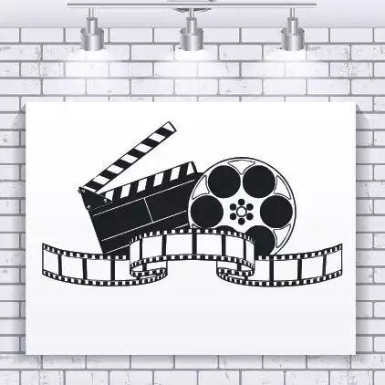 €4.05 25% de DESCUENTO|Vinilo pared calcomanía filmación arte adhesivo con diseño de película para pared decoración de cine diseño moderno papel tapiz película mostrar murales de pared AY924-in Adhesivos para pared from Hogar y Mascotas on AliExpress #kinogutscheinbasteln