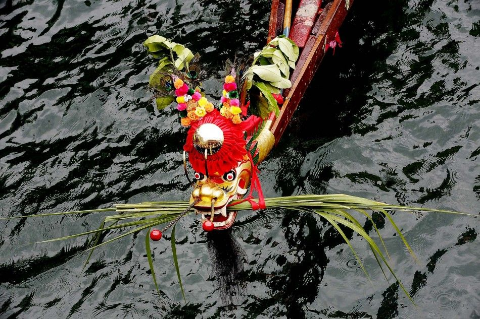 dragon boat races | of one of the dragon boats, during the Aberdeen Dragon Boat Races ...