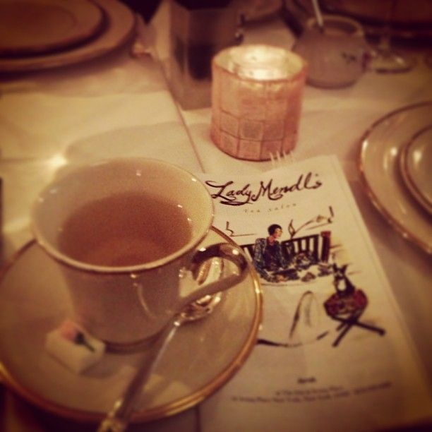 If you're in NYC when the mercury plummets, seek a cup of Winter Wonderland Rooibos in Lady Mendl's, which is huddled inside a brownstone just north of the hubbub of Manhattan's Union Square. This particular tea blends green rooibos, cacao, and cinnamon. Lady Mendl's is inside The Inn at Irving Place, and the vibe is less staid Victorian and more Alice in Wonderland. The teacups are fine china, ranging from Tiffany's to hand-culled vintage Wedgwood. The tablecloths are an unexpected black.