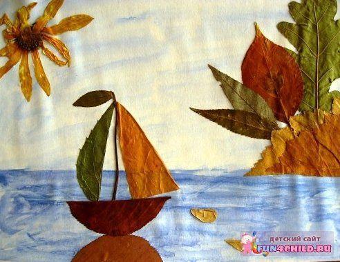 фото осенние поделки из листьев
