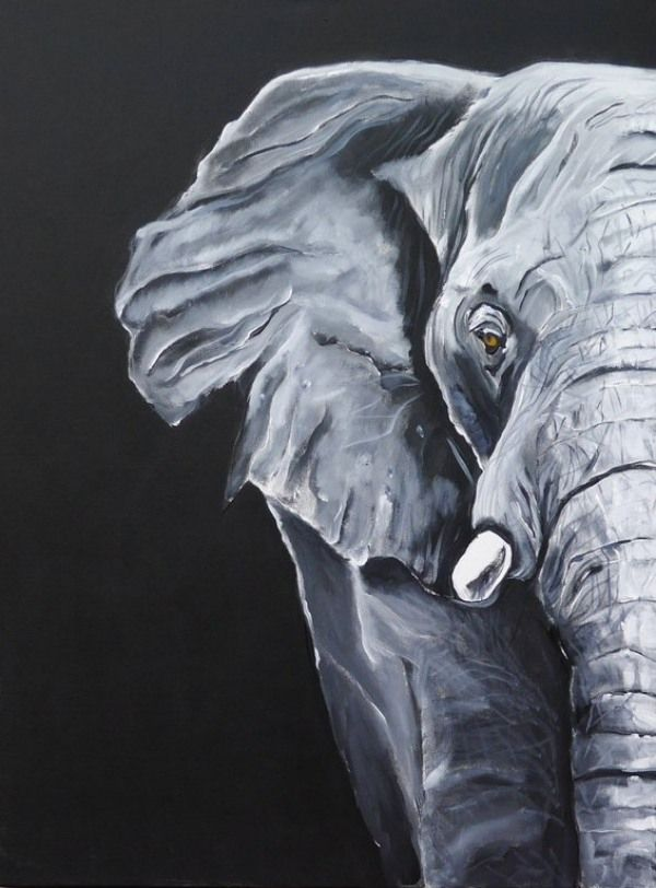 30 Creative Black And White Painting Ideas On Canvas Acrylic Painting Canvas Elephant Painting Canvas Elephant Canvas