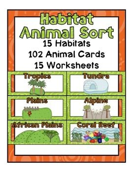 habitat animal sort animals habitats animal habitats biomes. Black Bedroom Furniture Sets. Home Design Ideas