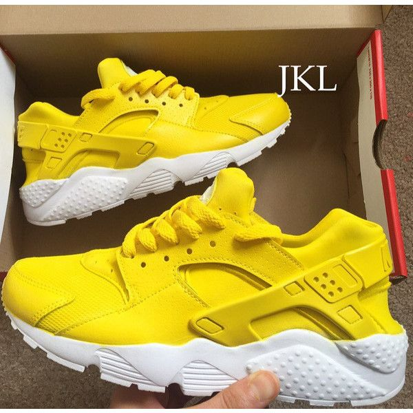 3a90c1c9a9ce6 Lemon Adults Nike Air Huarache Lemon Huarache Nike Huarache Yellow...  ($183) ❤ liked on Polyvore featuring shoes, grey, sneakers & athletic shoes,  ...