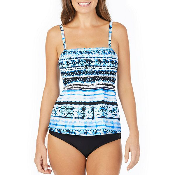 29d33038e3 St. John's Bay ® Moroccan Sun Smocked Tankini or Brief Swimsuit Bottom -  JCPenney