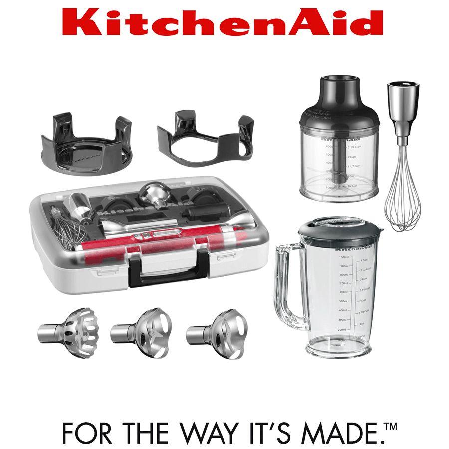 Kitchenaid artisan cordless hand blender with accessories