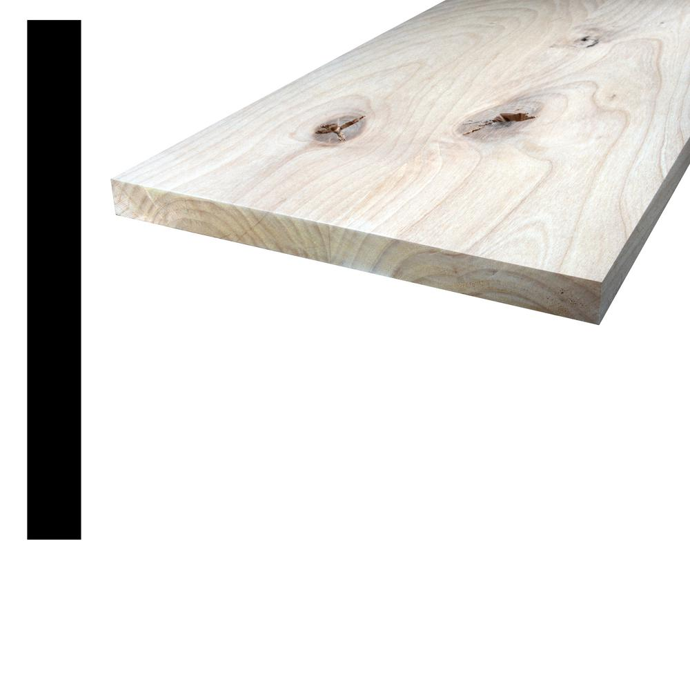 Alexandria Moulding 1 In X 10 In X 8 Ft Knotty Alder S4s Board Q1x10 51096c The Home Depot Knotty Alder Wood Species Alder