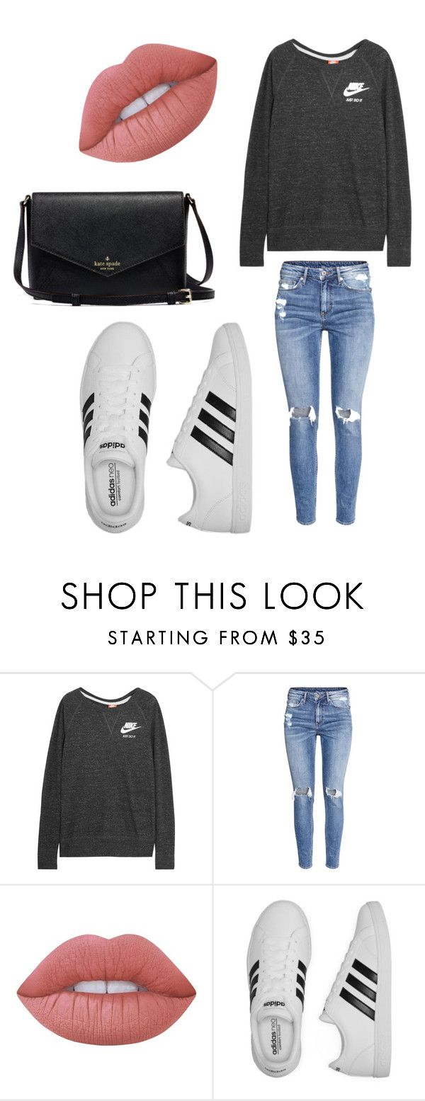 """""""Untitled #245"""" by cookiescore on Polyvore featuring NIKE, H&M, Lime Crime and adidas"""