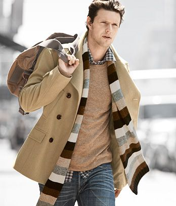 This camel wool coat might make a nice alternative to the black ...