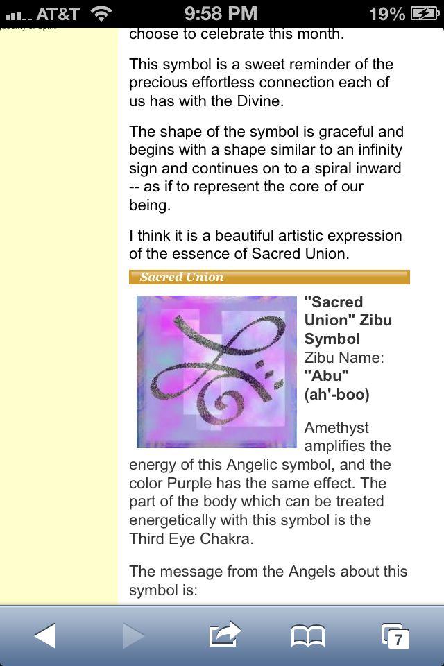 Zibu Symbol Sacred Union Zibu Symbols Pinterest Symbols