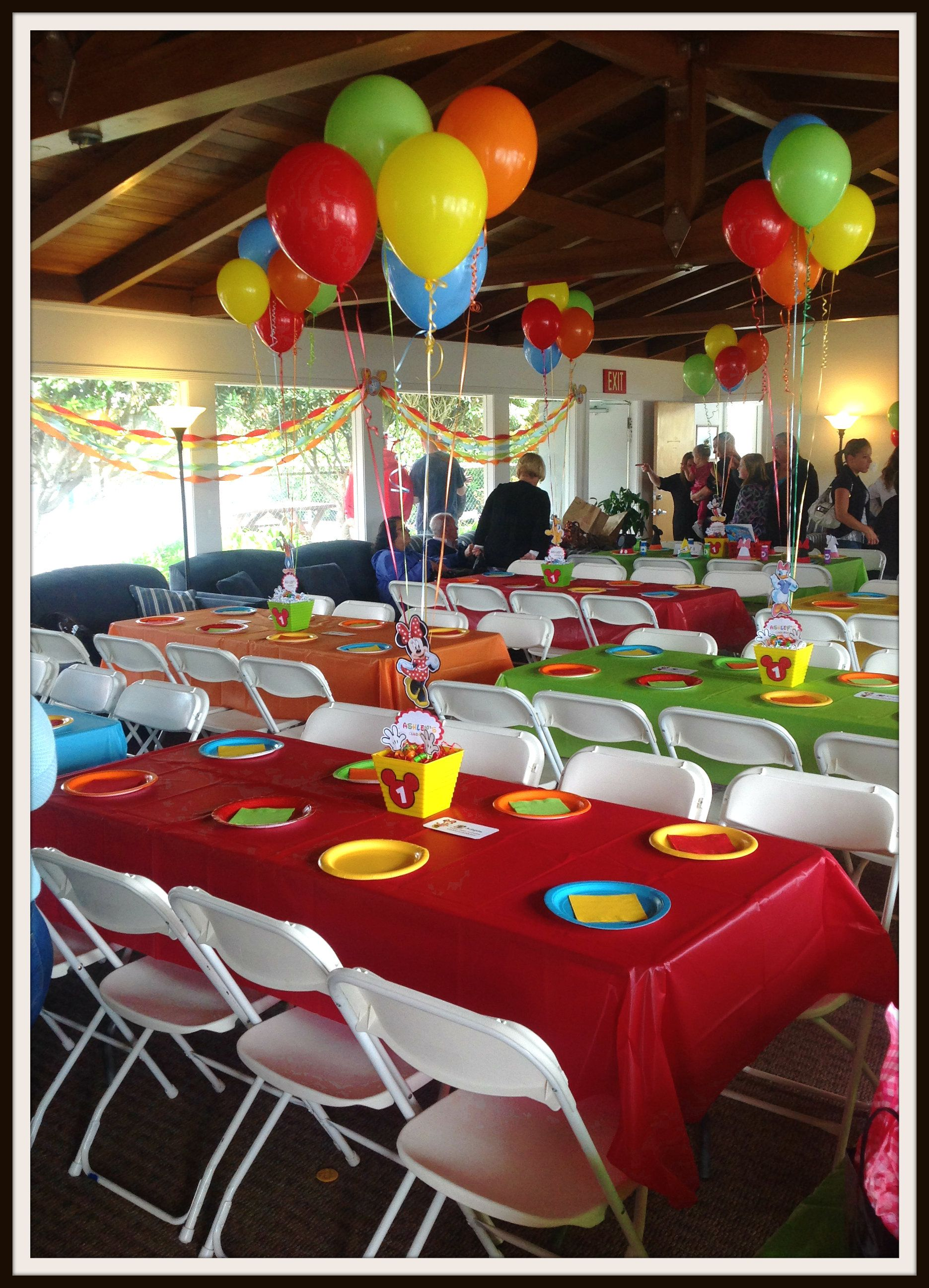 Mickey s clubhouse Table set up Party ideas