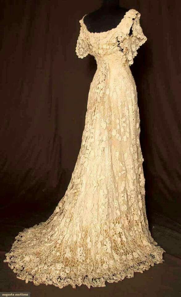 1880 Irish Lace Wedding Dress | Jewelry Making | Pinterest | Irish ...