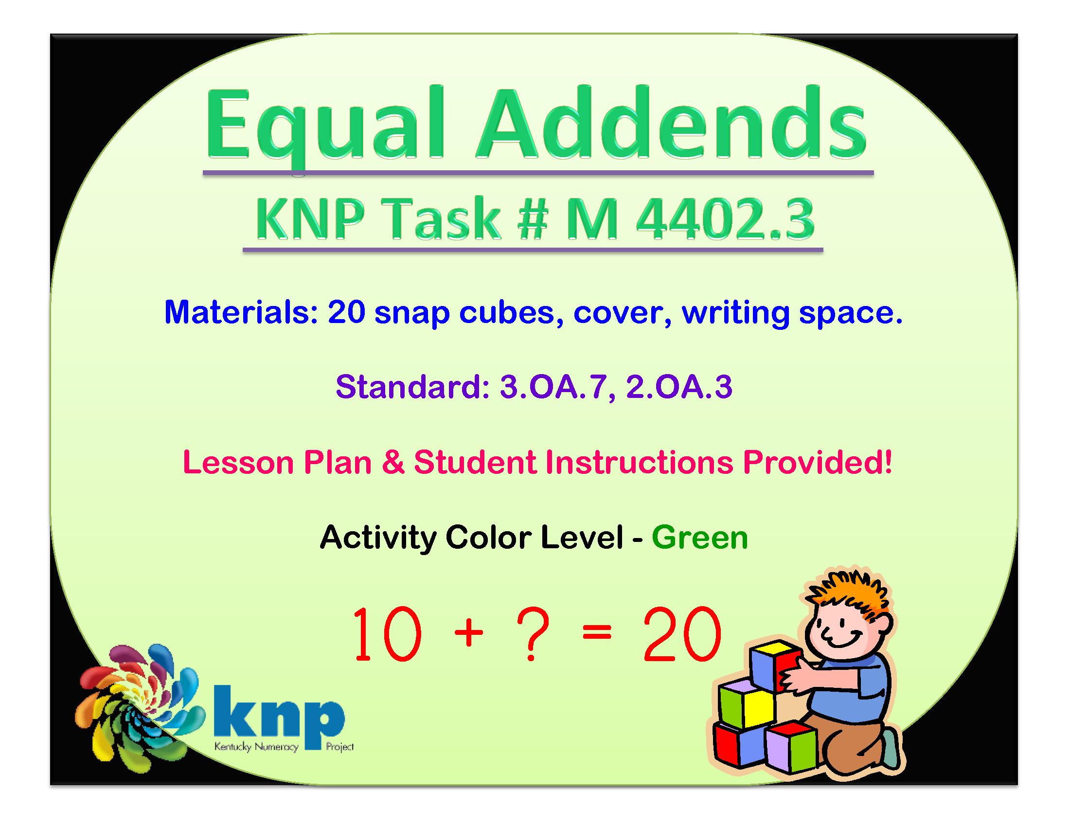 Equal Addends