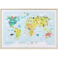 Photo of Bild World Map Animal Mehrfarbig ca. 50x70x3,5 cm BessagiBessagi
