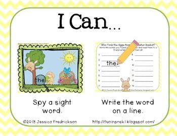 Who-Took-the-Eggs-from-the-Easter-Basket-Dolch-Pre-Primer-I-Spy-Freebie-637449 Teaching Resources - TeachersPayTeachers.com