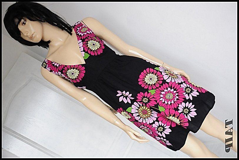 New Look Czarna Sukienka W Kwiaty 42 6204451785 Oficjalne Archiwum Allegro
