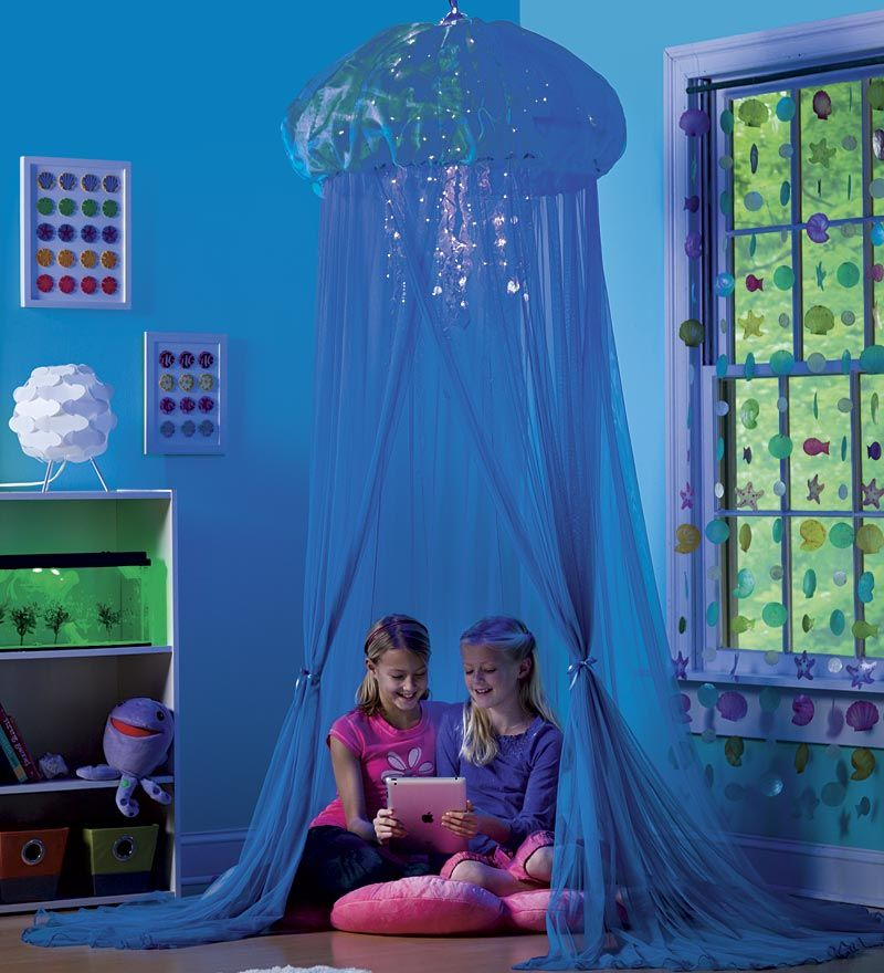 Room For Two Shared Bedroom Ideas: Aquaglow Light-Up Jellyfish Hideaway