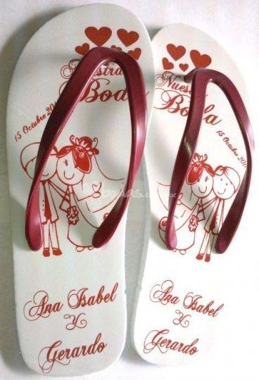 ideas de recuerdos para boda sandalias