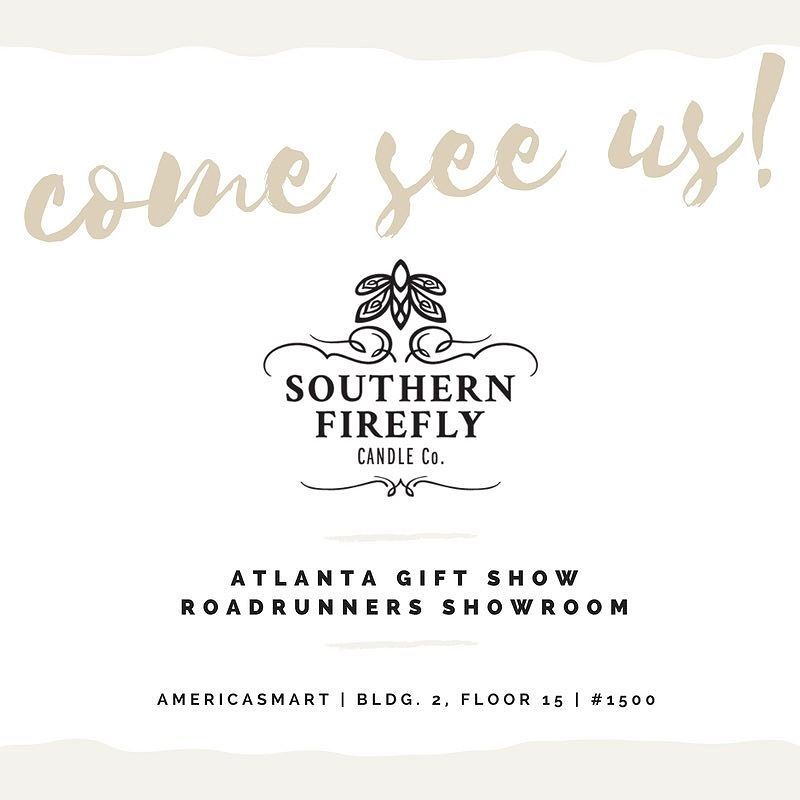 We are in Atlanta! Pop on by we'd love to meet you! #beepbeep #roadrunnersllc #atlmkt #southernfireflycandle