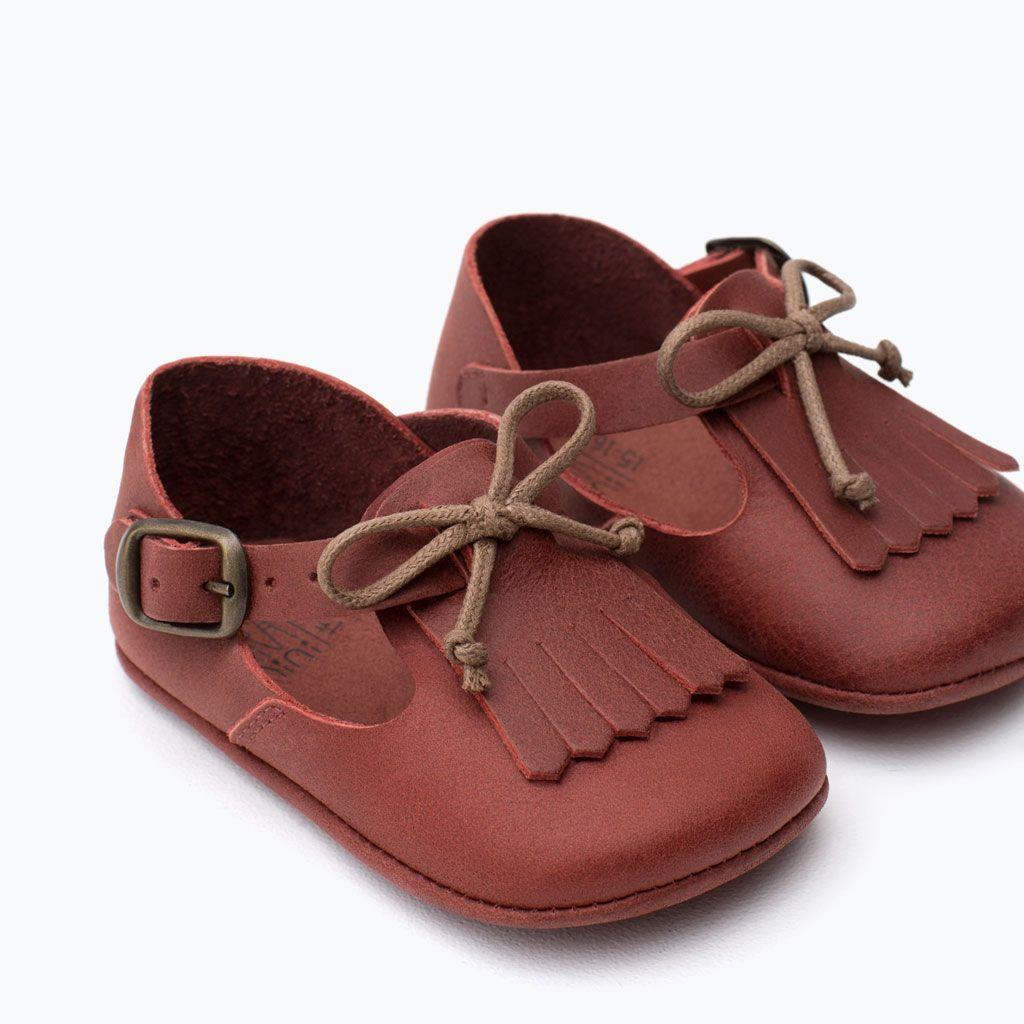 MINI LEATHER SHOES-Shoes-Mini | 0-12 months-KIDS | ZARA ...