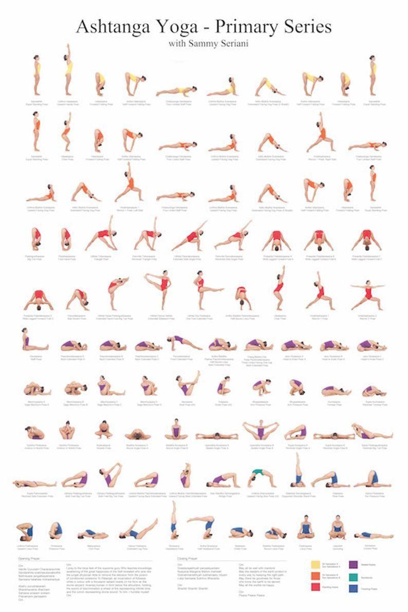 Ashtanga Yoga Primary Series Poster -  Ashtanga Yoga erhöhen Serie Poster   Etsy  - #Ashtanga #Poster #Primary #Series #Yoga