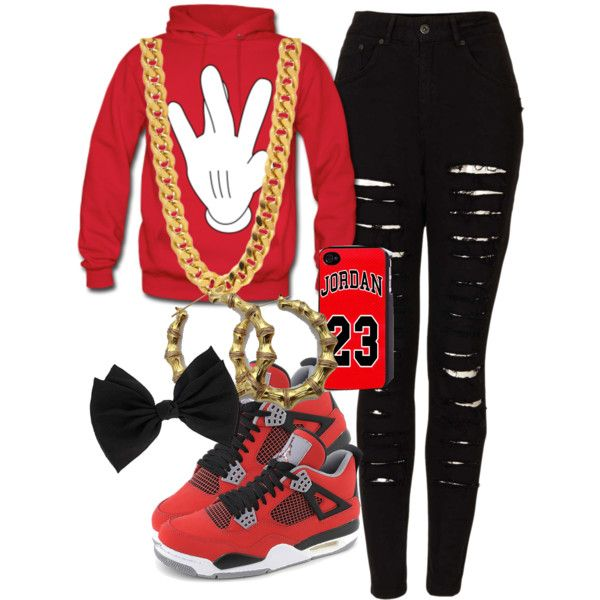 Red Black White For My Mama Girl Swagg Swag Outfits