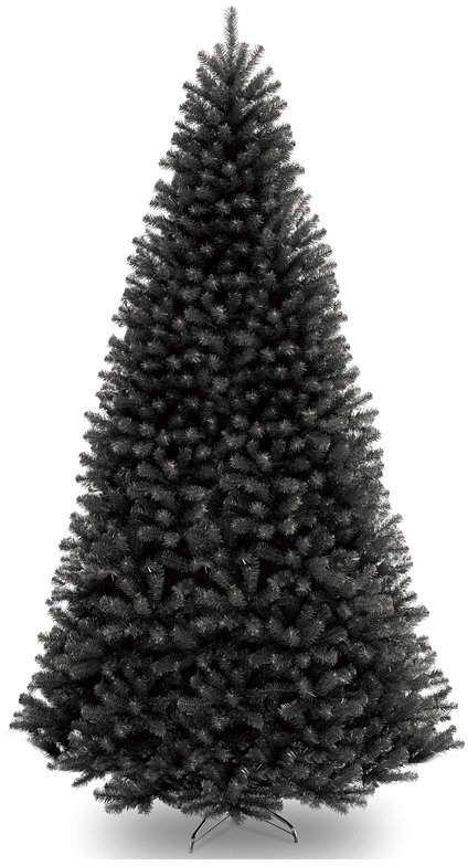 National Tree 9' North Valley Black Spruce Hinged Tree #blackchristmastreeideas
