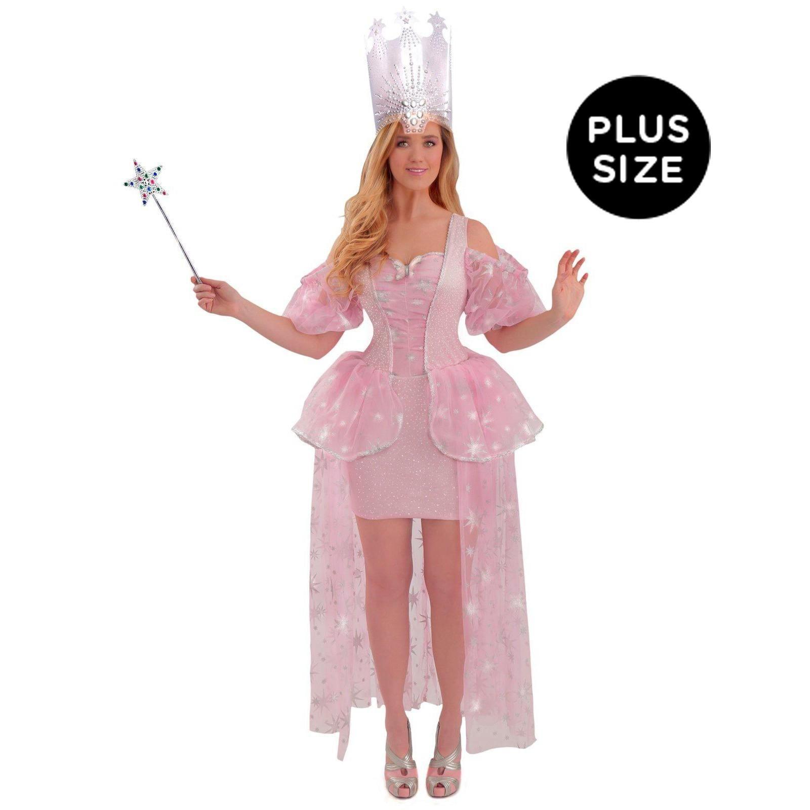 wizard of oz glinda adult plus costume   costumes