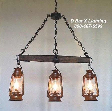 Dx753 Rustic Kitchen Light Fixture With Single Tree And Hanging Lantern Lights Mit Bildern Rustikale Kuchen Beleuchtung Rustikale Leuchten Rustikaler Kronleuchter