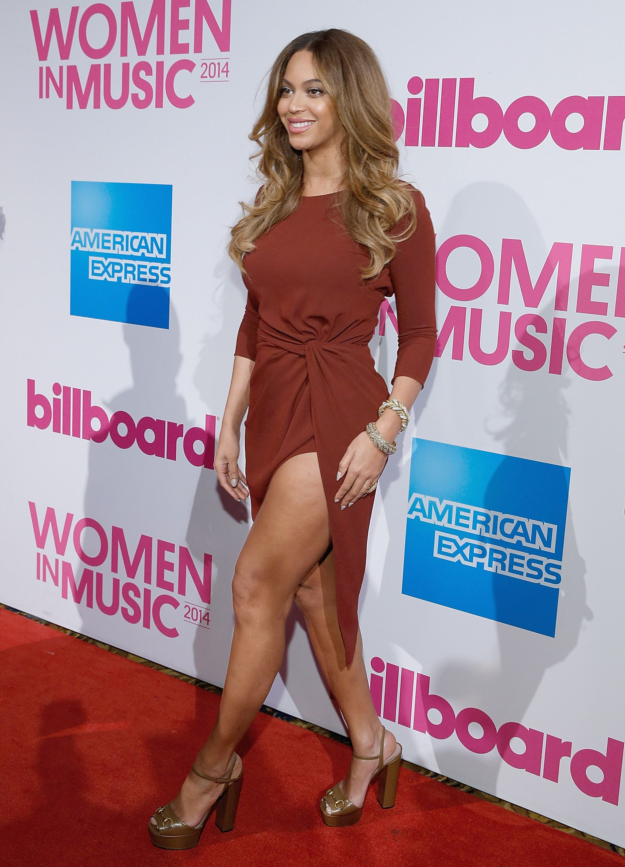 In Haute Hippie at the 2014 Billboard Women In Music Luncheon.   - ELLE.com