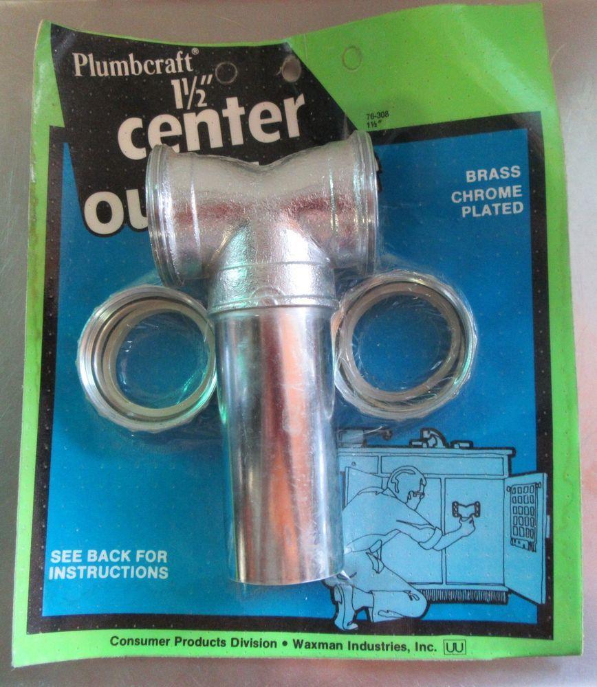 Drain Center Outlet Tee Kitchen Sinks 1-1/2\