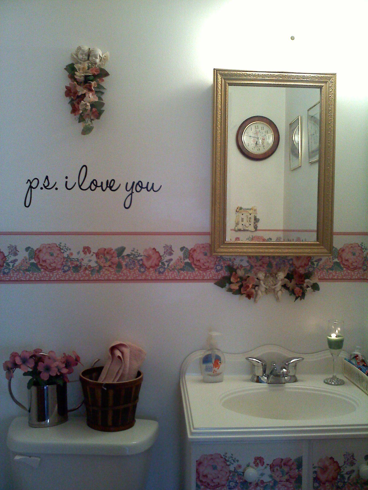 Small bathroom make-over.   Framed bathroom mirror, Small ...