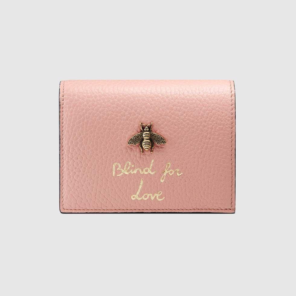 Gucci animalier card case wallet wallets for women card