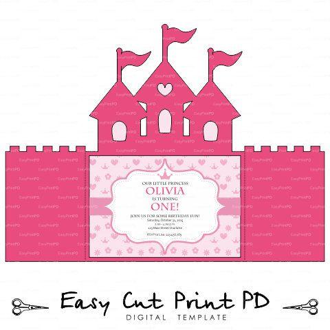 Princess Castle Invitation SVG File Cinderella Svg Dxf Studio V3 Quinceanera Cutting Te